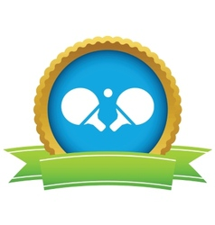 Table tennis racket icon vector