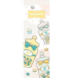 Jars of sweets vector