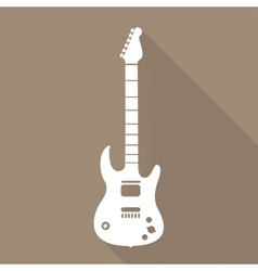 Guitar icon music background vector