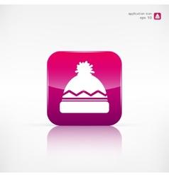 Winter snowboard cap icon vector