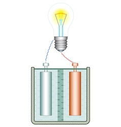 Battery and lamp vector