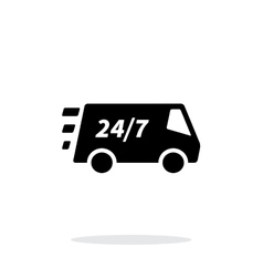 Delivery day and night support icon on white vector