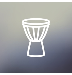 Timpani thin line icon vector