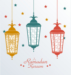 Intricate colorful arabic lamps vector