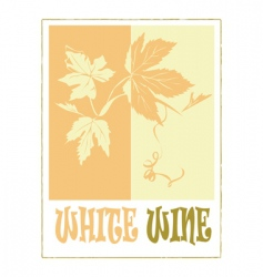 White wine label vector