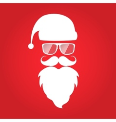 Hipster style christmas card design santa claus vector