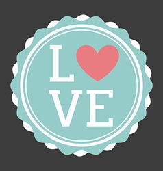 Love seal design vector