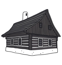 Old folk house vector
