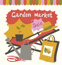 Garden market composition vector