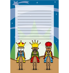 Letter to the three kings vector