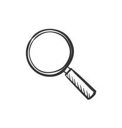 Hand draw doodle search icon vector