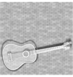 Guitar on a blurred background vector