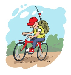 Travelling by bike vector