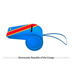 A whistle of democratic republic of the congo vector