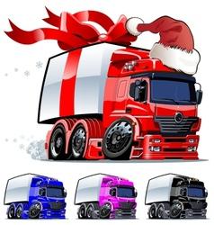 Christmas truck vector