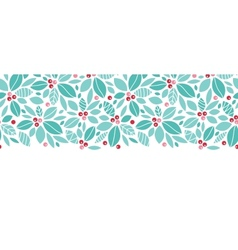 Christmas holly berries horizontal seamless vector
