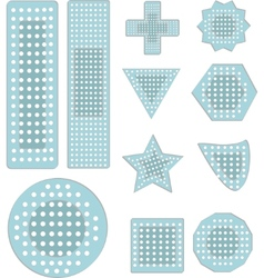 Bandaid icons vector