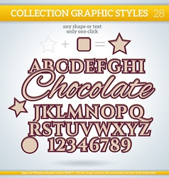 Chocolate graphic styles for design use for decor vector