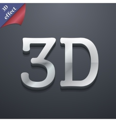 3d icon symbol 3d-style trendy modern design with vector