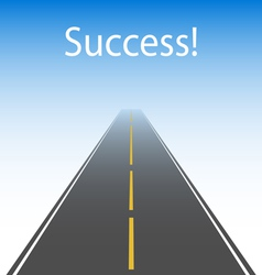 The road to success vector
