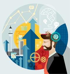 Businessman create ideas vector