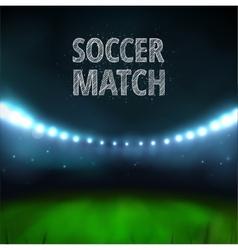 Soccer match vector