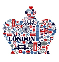 London great britain united kingdom flat icons vector