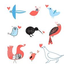 Lovers of birds set vector