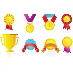 Sport awards icons vector