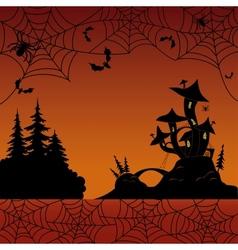 Holiday halloween landscape vector