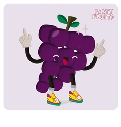 Grapes character isolated vector