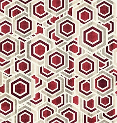 Vintage rhombus white and red color seamless vector
