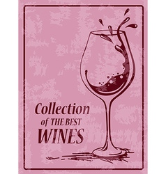 Background with wine glass vector