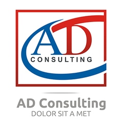 Logo letter ad consulting icon business vector