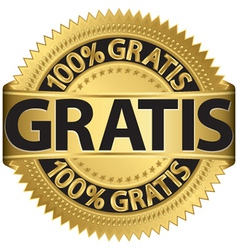 Gratis gold label vector