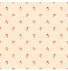 Seamless pattern or texture with little cupcakes vector