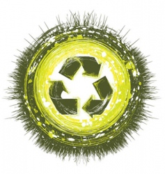 Recycling background vector