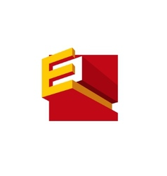 Sign the letter e vector