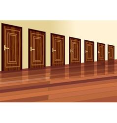 Row of doors vector