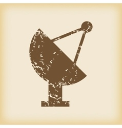 Grungy satellite dish icon vector