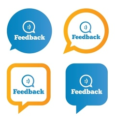 Feedback speech bubbles with smile vector