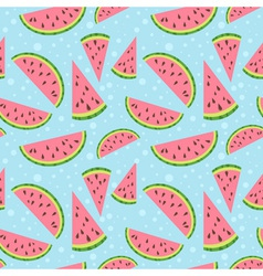 Watermelon colorful seamless pattern vector