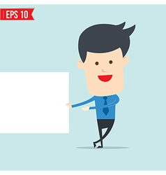Business man show board vector