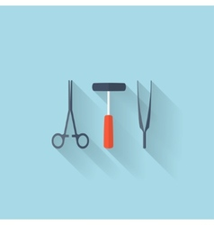Flat web internet icon medical tools vector