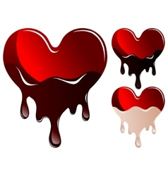 Hearts in chocolate vector