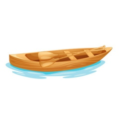 Canoe on water vector