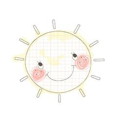A sun in the sky vector