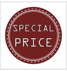Special price icon badge label or sticke vector