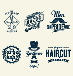 Vintage barber shop vector
