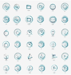 Minimal thin line design web icon set stamps vector